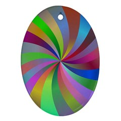 Spiral Background Design Swirl Ornament (oval)