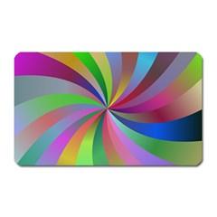 Spiral Background Design Swirl Magnet (rectangular)