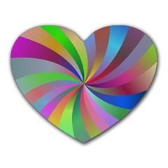 Spiral Background Design Swirl Heart Mousepads