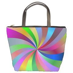 Spiral Background Design Swirl Bucket Bags