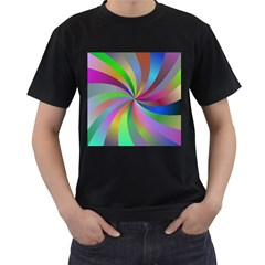 Spiral Background Design Swirl Men s T Shirt (black)
