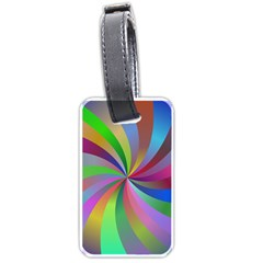 Spiral Background Design Swirl Luggage Tags (one Side)