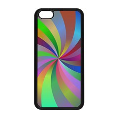 Spiral Background Design Swirl Apple Iphone 5c Seamless Case (black)