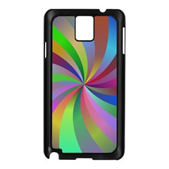Spiral Background Design Swirl Samsung Galaxy Note 3 N9005 Case (black)