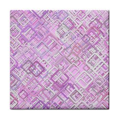Pink Modern Background Square Tile Coasters