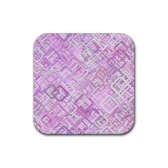 Pink Modern Background Square Rubber Coaster (square)