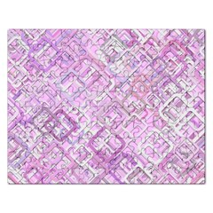Pink Modern Background Square Rectangular Jigsaw Puzzl