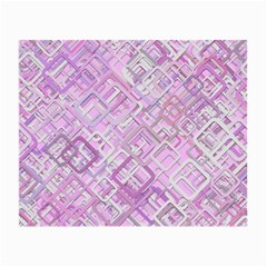 Pink Modern Background Square Small Glasses Cloth (2 Side)