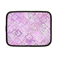 Pink Modern Background Square Netbook Case (small)