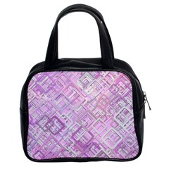 Pink Modern Background Square Classic Handbags (2 Sides)