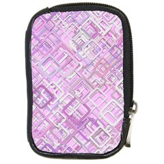 Pink Modern Background Square Compact Camera Cases