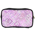 Pink Modern Background Square Toiletries Bags Front