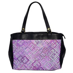 Pink Modern Background Square Office Handbags