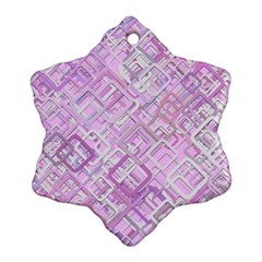 Pink Modern Background Square Ornament (snowflake)