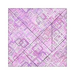 Pink Modern Background Square Acrylic Tangram Puzzle (6  X 6 )