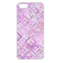 Pink Modern Background Square Apple Iphone 5 Seamless Case (white)