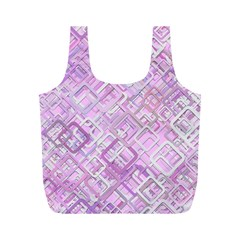 Pink Modern Background Square Full Print Recycle Bags (m)