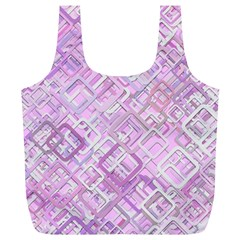 Pink Modern Background Square Full Print Recycle Bags (l)