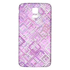 Pink Modern Background Square Samsung Galaxy S5 Back Case (white)