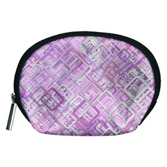 Pink Modern Background Square Accessory Pouches (medium)