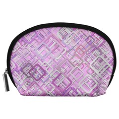 Pink Modern Background Square Accessory Pouches (large)