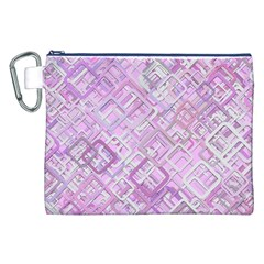 Pink Modern Background Square Canvas Cosmetic Bag (xxl)