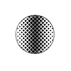 Square Diagonal Pattern Monochrome Hat Clip Ball Marker (10 Pack)