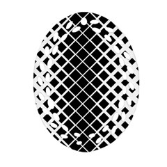 Square Diagonal Pattern Monochrome Ornament (oval Filigree)