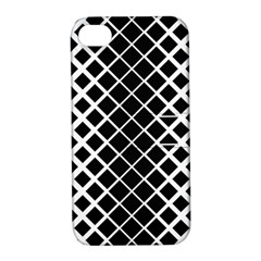 Square Diagonal Pattern Monochrome Apple Iphone 4/4s Hardshell Case With Stand