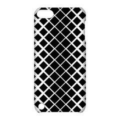 Square Diagonal Pattern Monochrome Apple Ipod Touch 5 Hardshell Case With Stand