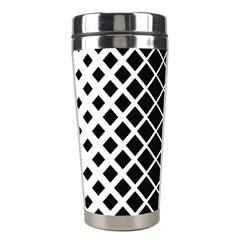 Square Diagonal Pattern Monochrome Stainless Steel Travel Tumblers