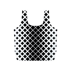Square Diagonal Pattern Monochrome Full Print Recycle Bags (s)