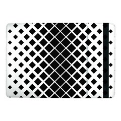 Square Diagonal Pattern Monochrome Samsung Galaxy Tab Pro 10 1  Flip Case