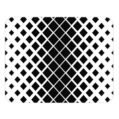 Square Diagonal Pattern Monochrome Double Sided Flano Blanket (large)