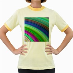 Motion Fractal Background Women s Fitted Ringer T Shirts