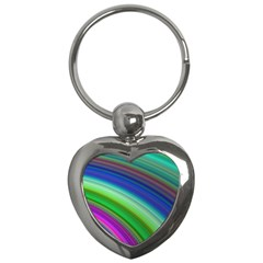 Motion Fractal Background Key Chains (heart)