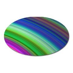 Motion Fractal Background Oval Magnet