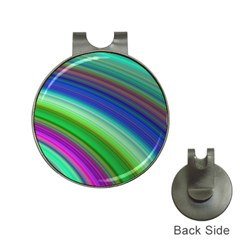Motion Fractal Background Hat Clips With Golf Markers