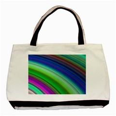 Motion Fractal Background Basic Tote Bag