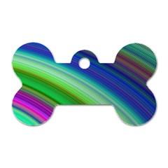 Motion Fractal Background Dog Tag Bone (one Side)