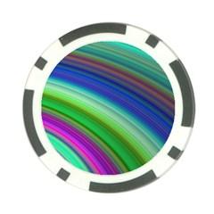 Motion Fractal Background Poker Chip Card Guard (10 Pack)