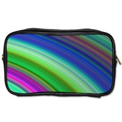 Motion Fractal Background Toiletries Bags 2 Side