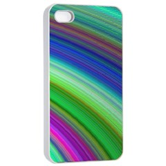 Motion Fractal Background Apple Iphone 4/4s Seamless Case (white)