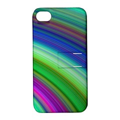 Motion Fractal Background Apple Iphone 4/4s Hardshell Case With Stand
