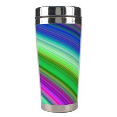 Motion Fractal Background Stainless Steel Travel Tumblers