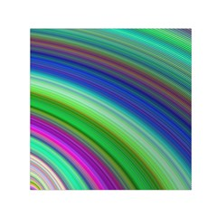 Motion Fractal Background Small Satin Scarf (square)