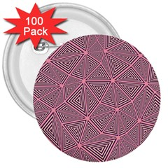 Purple Triangle Background Abstract 3  Buttons (100 Pack)