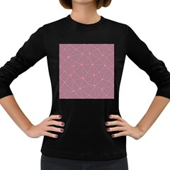 Purple Triangle Background Abstract Women s Long Sleeve Dark T Shirts