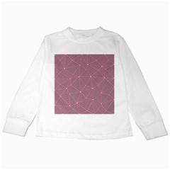 Purple Triangle Background Abstract Kids Long Sleeve T Shirts