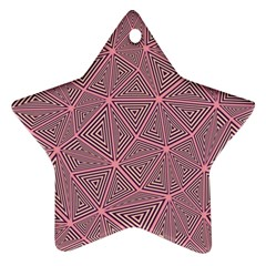 Purple Triangle Background Abstract Star Ornament (two Sides)